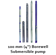 "100 mm (4"") Borewell Submersible Pumps"