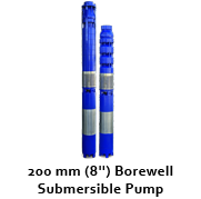 "200 mm (8"") Bore well Submersible Pumps"