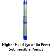 Higher Head (50 feet/60 feet) Submersible Pumps